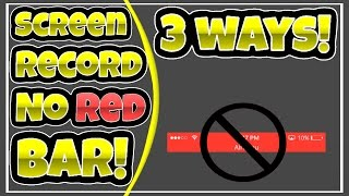 3 Ways To Screen Record Without The Red Bar On iOS 10/9! NO PC/JB! FREE!