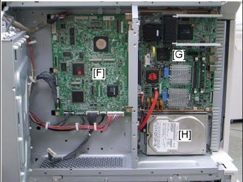 COPIER RICOH MP6001 MP7001 MP8001 TUTORIAL All Boards replacement