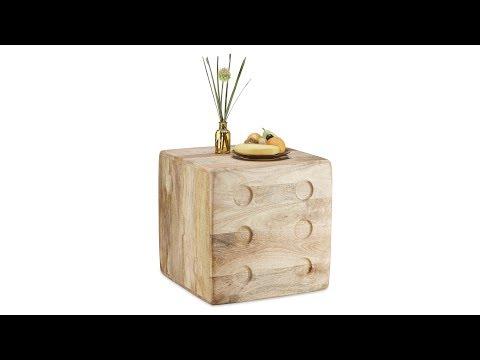 Beistelltisch Würfel aus Mangoholz