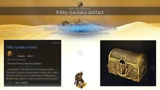 BDO - Gardaka's Treasure quest - Filthy Gardaka Artifact - Black Desert Online