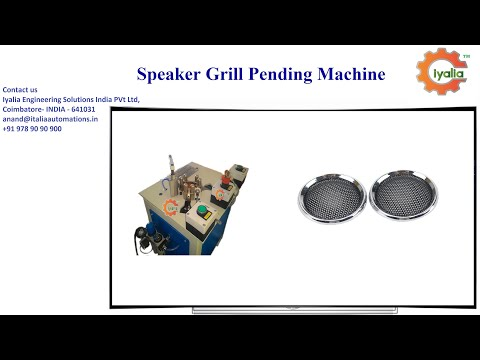 SPM for Hydraulic Speaker Grill Machine