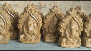 How To Make Ganesh Idol With Casting Mould | Clay - Eco-friendly, Easiest, Fastest & Effective Way