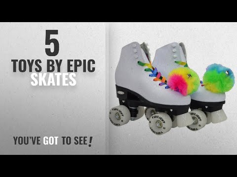 Top 10 Epic Skates Toys [2018]: Epic Skates Epic Allure Light-Up Quad Roller Skates, White