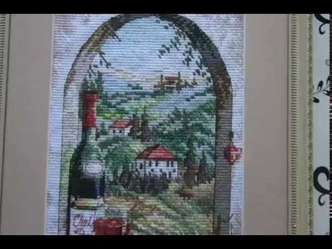 8.  Мечты о Тоскане, завершённый процесс, вышивка крестом