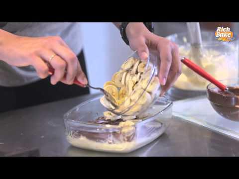 كيكة النوتيلا و الموز بتوست ريتش بيك