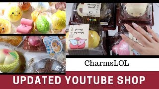 UPDATED Squishy YouTube Shop | New and Cheaper items! | CharmsLOL