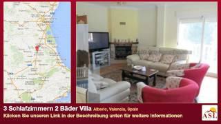 preview picture of video '3 Schlafzimmern 2 Bäder Villa zu verkaufen in Alberic, Valencia, Spain'