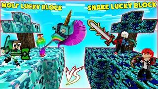 MINI GAME : DIAMOND WOLF VS SNAKE LUCKY BLOCK BEDWARS ** ĐỒ CỦA CHO SÓI HAY CỦA RẮN VIP NHẤT ĐÂY ??
