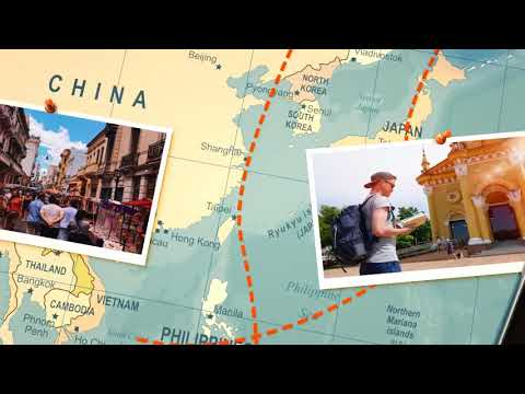 The Journey Map Slideshow After Effects Template - смотреть