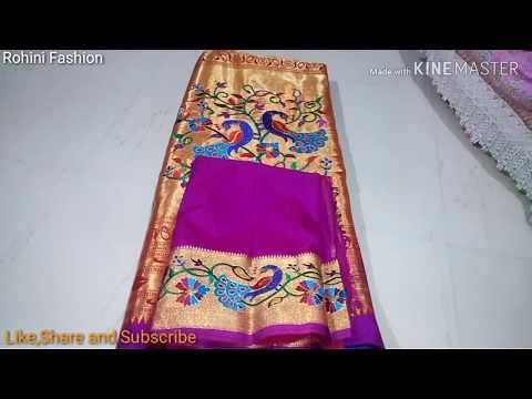 Paithani saree designer kath work back neck blouse| cutting