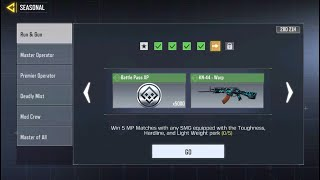 Win 5 MP Matches with any SMG equipped with the Toughness, Hardline and Light Weight perk