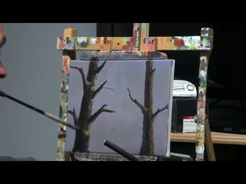 How to Paint Tree Bark in Acrylic - Quick Tutorial