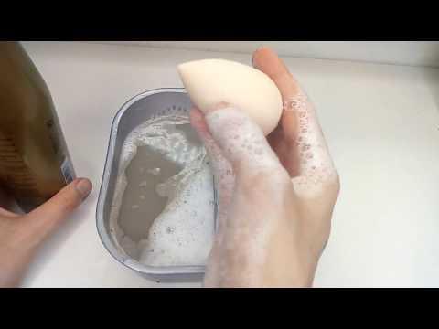 Как отмыть спонж (бьютиблендер)  от тонального крема