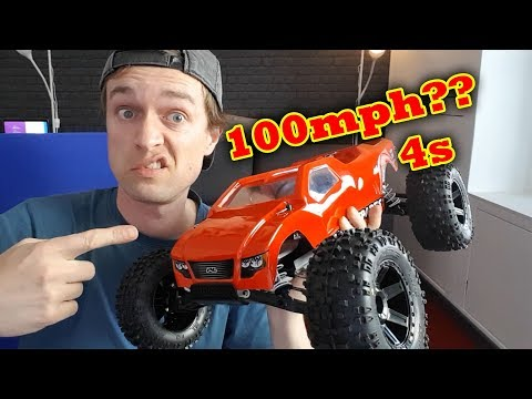 Traxxas Rustler VXL Hopups will it do 100mph on 4s Hobbywing