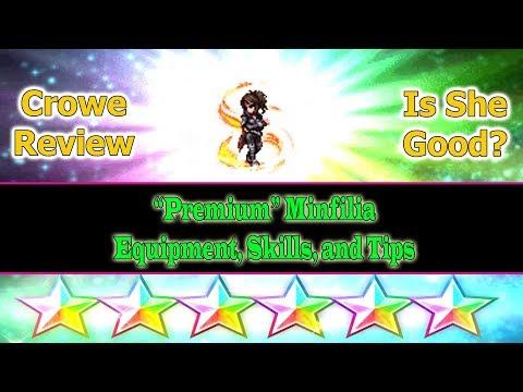 Final Fantasy Brave Exvius 6 stars Crowe Review: Premium Minfilia(#240)