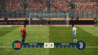 PORTUGAL vs JUVENTUS FC   Penalty Shootout   CR7 vs C.RONALDO   PES 2019 Gameplay PC