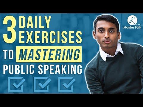 3 Daily Public Speaking Exercises