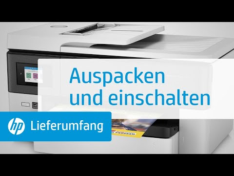 Auspacken und einschalten eines Druckers der HP OfficeJet Pro 7720 All-in-One Großformatdrucker-Serie