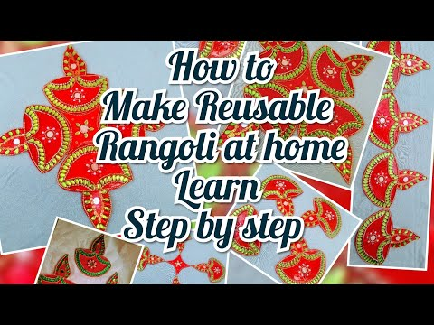 Rearrangable and reusable rangoli