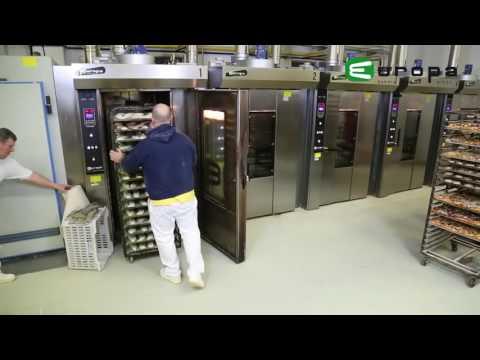 video 1, Four boulangerie Gaz rotatif 600x800mm