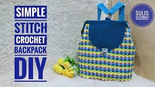 Crochet    How To Make Crochet Backpack    Easy Stitch