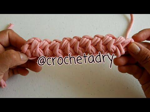 DIY asas o correas para bolsas o mochilas en crochet / trapillo / Crochet Adriana