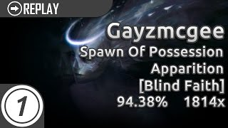 Gayzmcgee | Spawn Of Possession - Apparition [Blind Faith] | 1814/3961 94.38% 139pp