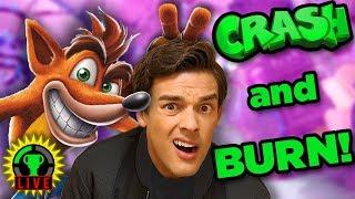 I'M CRASHING SO HARD!   Crash Bandicoot N. Sane Trilogy