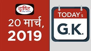 Today's GK- 20- 03-19