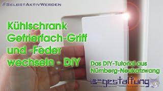 Anleitung zum Wechseln des Bauknecht Kühlschrank Gefrierfach-Griff und -Feder DIY #SelbstAktivWerden