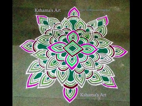 easy and simple festival rangoli design by kshama bade