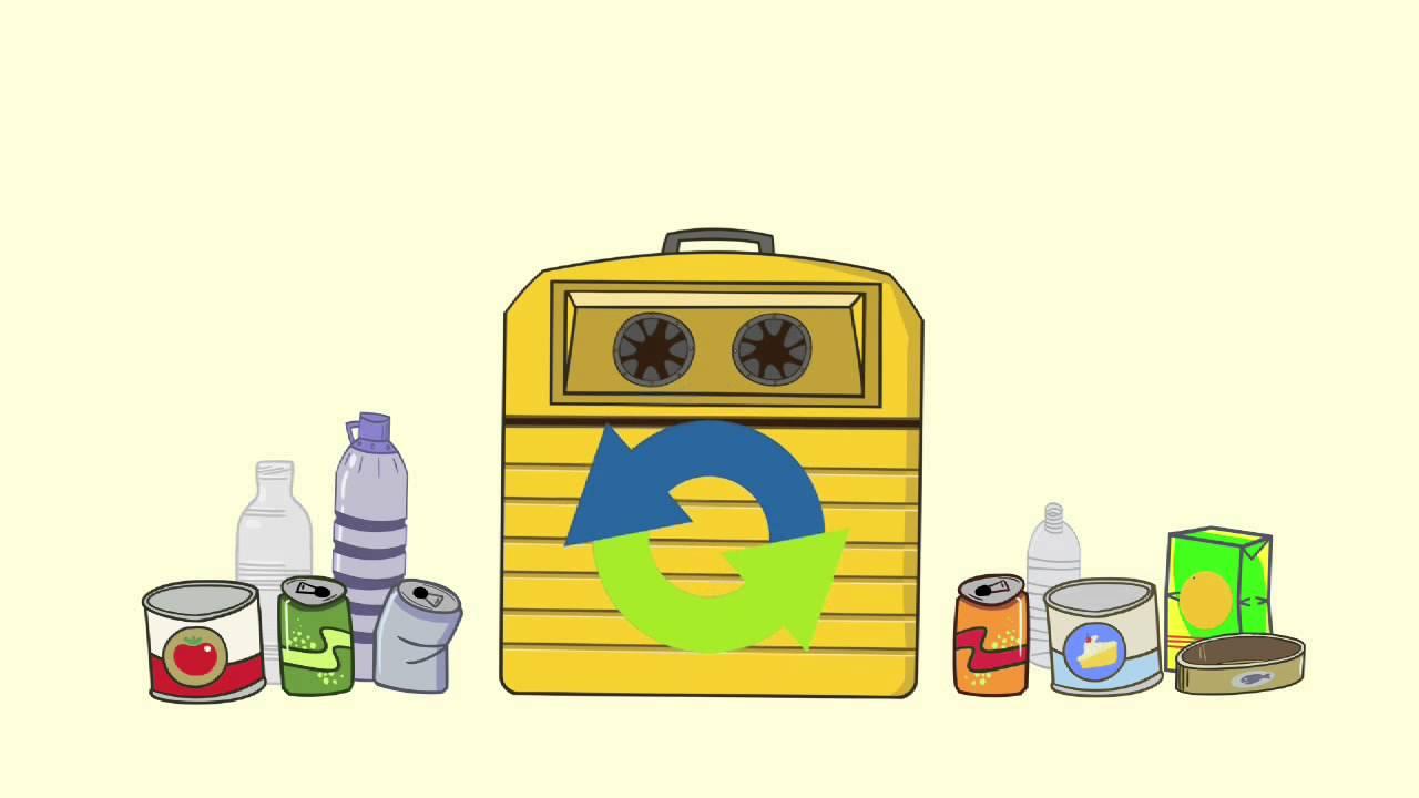 Qué va en el contenedor amarillo