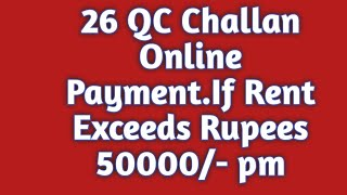 How TO Payment 26QC CHALLAN Online.