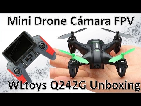 WLtoys Q242G Mini Drone Con Camara FPV Barato Unboxing Español