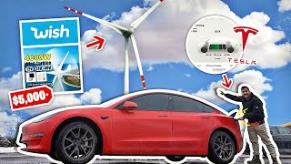 I Bought A $5,000 Wind Turbine On Wish To Charge My Tesla..