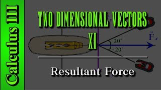 Calculus Iii: Two Dimensional Vectors  Level 11 Of 13    Resultant Force
