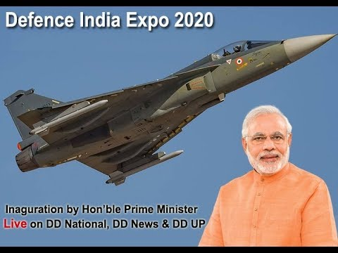 Defence India Expo 2020 inauguration by Prime Minister of India Live from Defence Expo Site, Lucknow