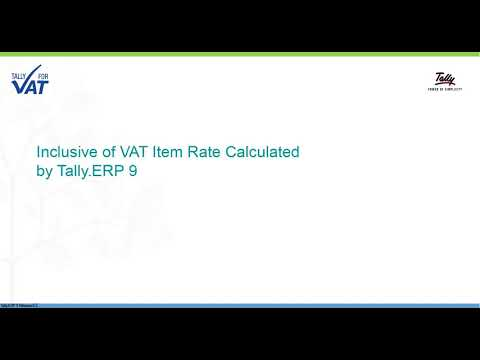 Print Item Rate Inclusive of VAT in Sales Invoice