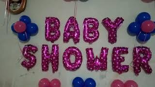 Baby Shower Balloon Decoration At Home - Balloon Decoration Ideas | Het Décor