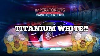 TITANIUM WHITE IMPERATOR DT5! -First ever Velocity crate! |Rocket League
