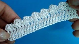 Вязание крючком Узоры Кайма Урок261 Сrochet border edge