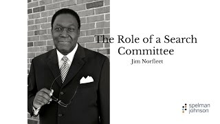 The Role Of A Search Committee