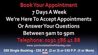 preview picture of video 'Teeth Whitening Sunderland, Gateshead, Newcastle, Hartlepool, Middlesbrough, Stockton, Darlington'