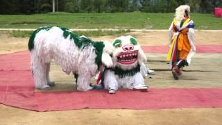 Jhamtse Gatsal - Dalai Lama Birthday - Lion Dance
