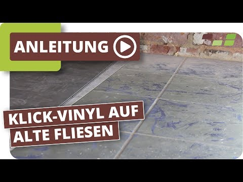 Vinylboden auf Fliesen verlegen Planeo Klick-Vinyl