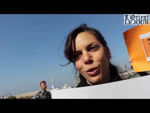 Sit-in contre la visite de Marine Le Pen à Beyrouth