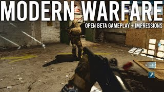 Modern Warfare Beta Gameplay + Impressions
