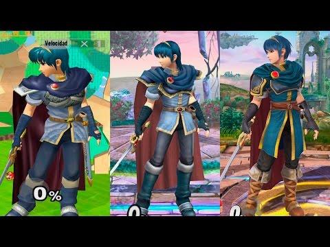 Super Smash Bros Wii U | Marth Evolution