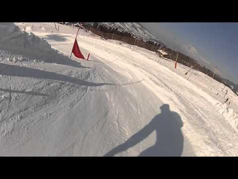 Ski cross en mini skis snowblade Salomon short kart