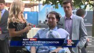 Pete Frates 'resting comfortably' Monday at hospital, family says